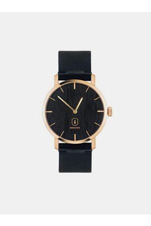 BeWooden Dřevěné hodinky Lux Watch s řemínkem z pravé kůže