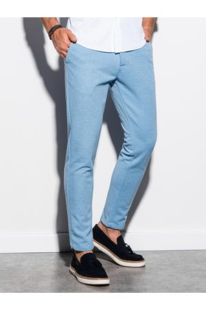 Ombre Clothing Pánské chinos kalhoty P891 - blankytná