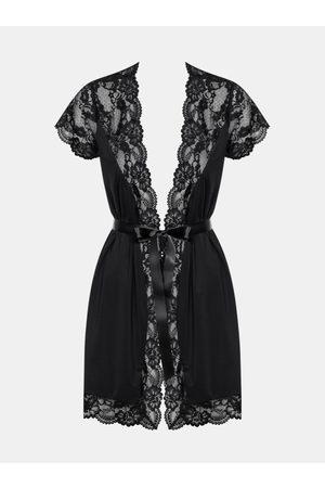 Obsessive Elegantní župan 810 - PEI black XXL