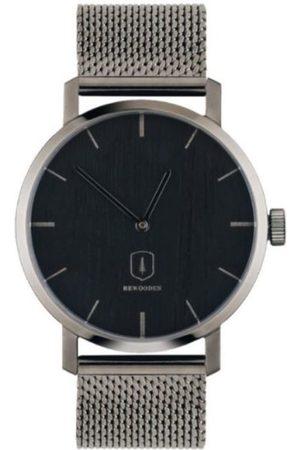 BeWooden Dřevěné hodinky Titan Watch kovovým s řemínkem