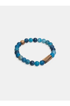 BeWooden Korálkový náramek Aqua Zebrano Bracelet