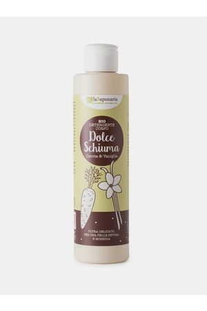 lasaponaria Jemný čisticí sprchový gel s mrkví a vanilkou BIO 200 ml