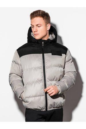 Ombre Clothing Pánská zimní prošívaná bunda C458 - šeda
