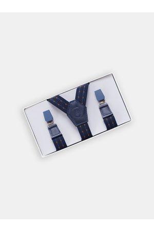 BeWooden Kožené šle Astro Suspenders s dřevěnými detaily