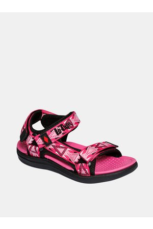 Lee Cooper Růžové holčičí vzorované sandály