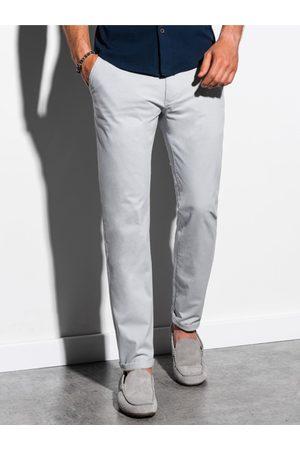 Ombre Clothing Pánské chinos kalhoty P894 - světle
