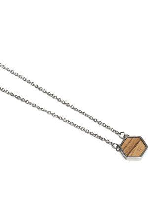 BeWooden Náhrdelník s dřevěným detailem Lini Necklace Hexagon