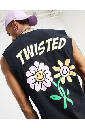 New Love Club Twisted vest in black