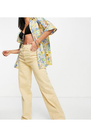 COLLUSION X008 wide leg jeans in yellow