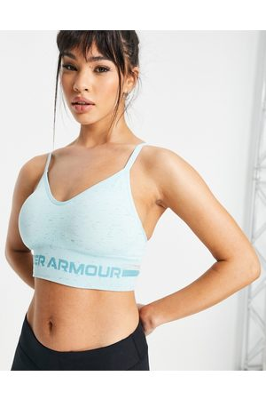 Under Armour Ženy Sportovní - Training Seamless mid support long sports bra in turquoise-Blue