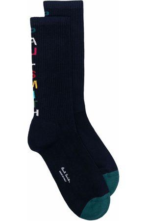 Paul Smith Muži Ponožky - Logo-intarsia socks