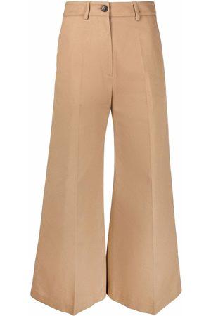VALENTINO Ženy Široké nohavice - Flared cropped trousers