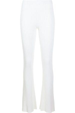 DION LEE Ženy Široké nohavice - Rib-knit flared trousers