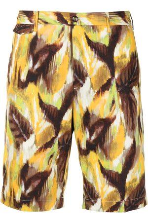 PT01 Muži Bermudy - Painterly-print bermuda shorts