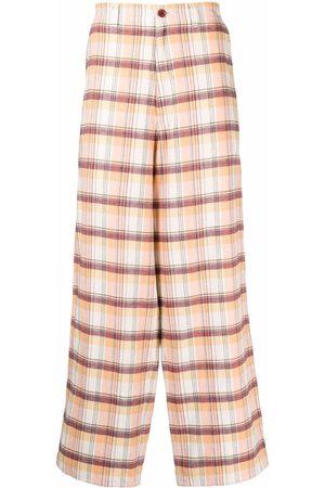 UNDERCOVER Muži Široké nohavice - Checked wide-leg trousers