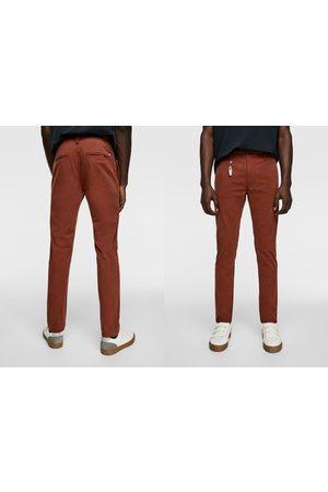 Zara Muži Chino - Kalhoty chino new skinny