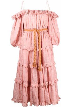 ZIMMERMANN Ženy S potiskem - Polka-dot print off-shoulder dress