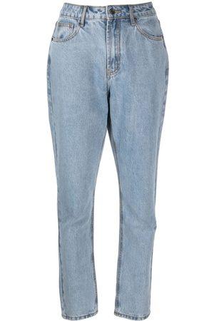 12 STOREEZ Ženy S vysokým pasem - High-rise straight leg jeans