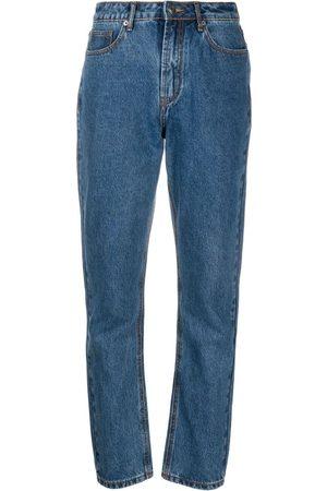 12 STOREEZ High-rise straight leg jeans