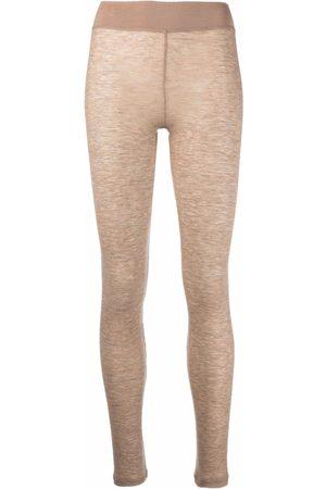 12 STOREEZ Fine-knit leggings