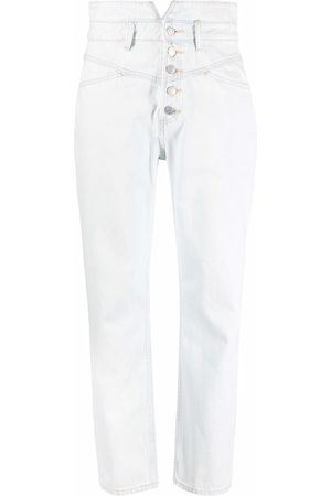 12 STOREEZ Ženy S vysokým pasem - High-waisted straight leg jeans