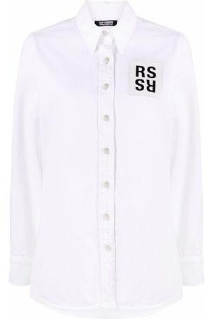 RAF SIMONS Ženy Džínové košile - Logo patch denim shirt