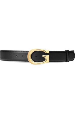 Gucci Muži Pásky - G-buckle leather belt