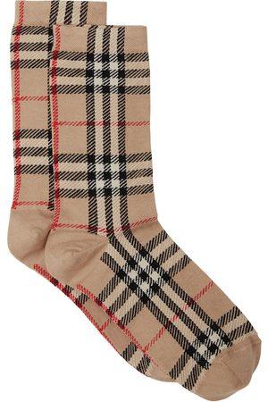 Burberry Ponožky - Vintage check intarsia-knit socks