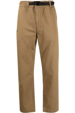 Izzue Muži Rovné nohavice - Logo-patch straight-leg trousers