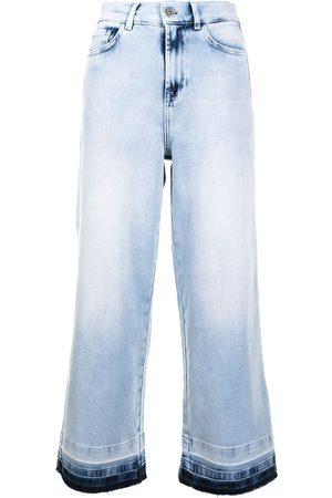 Twin-Set Cropped wide-leg jeans