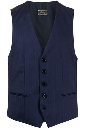 BRIONI Buttoned-up striped gilet