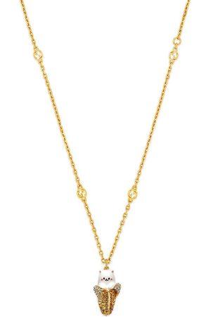 Gucci Muži Náhrdelníky - X Bananya gold-tone crystal-embellished necklace