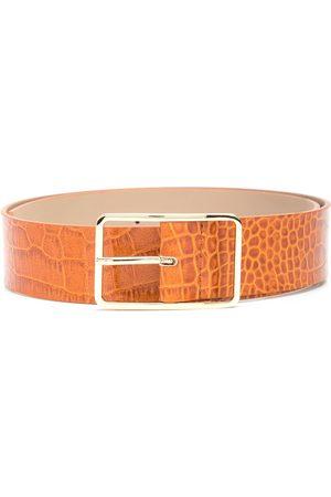 B-Low The Belt Ženy Pásky - Milla crocodile-effect leather belt