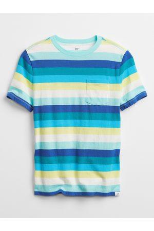 GAP Modré klučičí dětské tričko pocket t-shirt