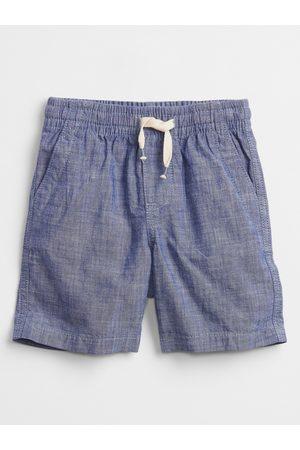 GAP Modré klučičí dětské kraťasy chambray pull-on shorts