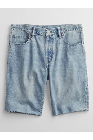 GAP Modré pánské džínové kraťasy denim shorts