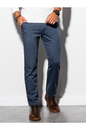 Ombre Clothing Pánské chinos kalhoty P892 - námořnická