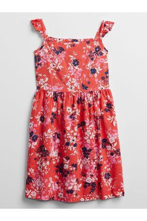 GAP Oranžové holčičí dětské šaty smocked floral dress