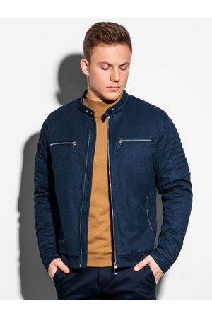 Ombre Clothing Pánská jarní bunda C461 - námořnická