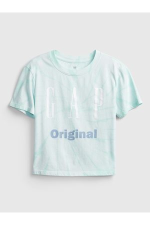 GAP Modré holčičí dětské tričko Logo original t-shirt