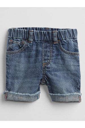 GAP Modré klučičí baby kraťasy pull-on denim shorts