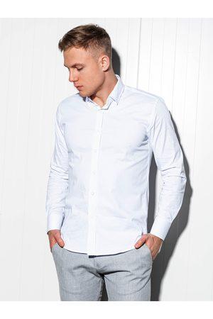 Ombre Clothing Pánská slim-fit košile s dlouhým rukávem K504