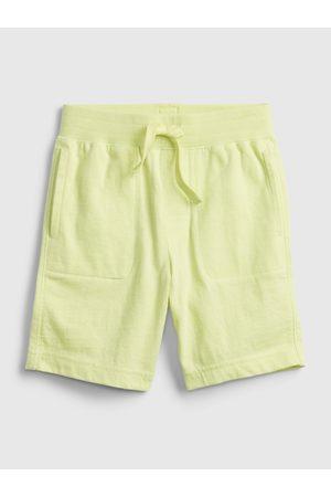 GAP Žluté klučičí dětské kraťasy 100% organic cotton mix and match pull-on shorts