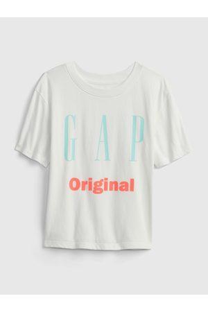 GAP Bílé holčičí dětské tričko Logo original t-shirt