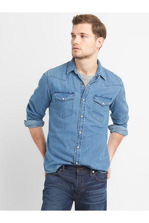 GAP Pánská košile denim western shirt in slim fit
