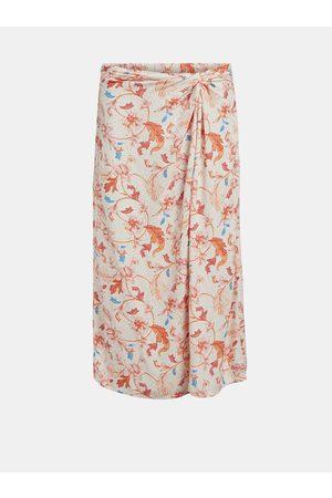 Object Oranžovo- vzorovaná sukně Obdulia