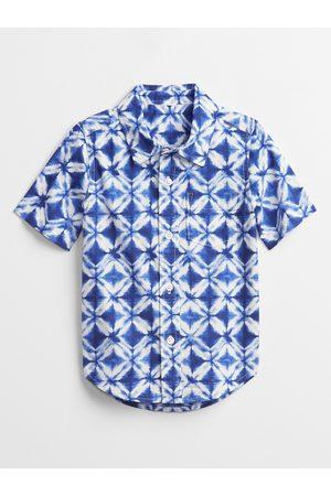 GAP Klučičí dětská košile poplin shirt