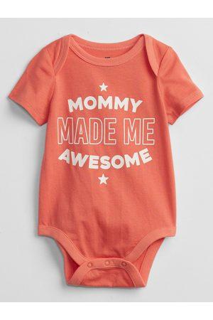 GAP Oranžové klučičí baby body mix and match family bodysuit