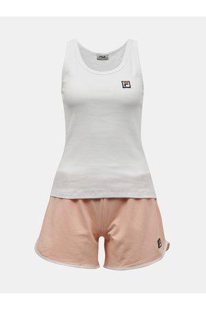 Fila Oranžovo-bílé dámské krátké pyžamo