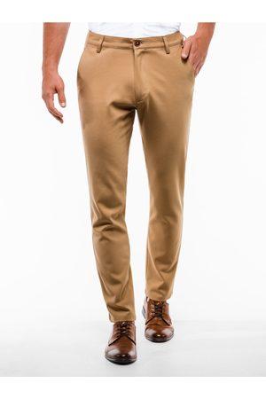 Ombre Clothing Pánské chinos kalhoty P832 - světle hnědé
